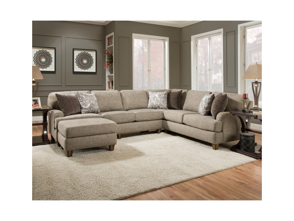 Franklin BrannonSectional Sofa with 5 Seats