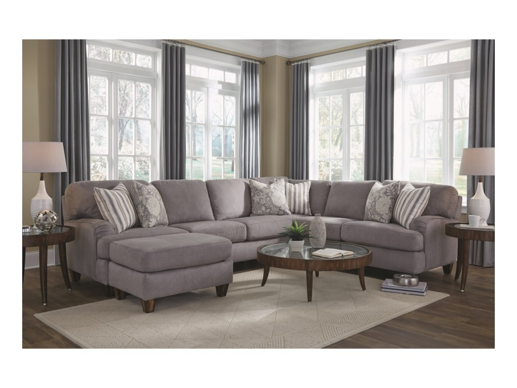 Franklin Haddie Sectional Sofa with 5 Seats | Olinde\'s Furniture ...