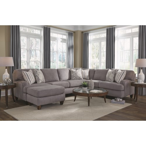 Franklin Haddie Sectional Sofa with 5 Seats