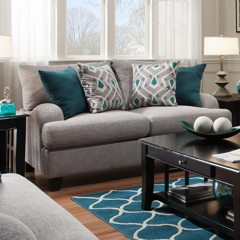 Franklin Paradigm Loveseat With Bold Accent Pillows