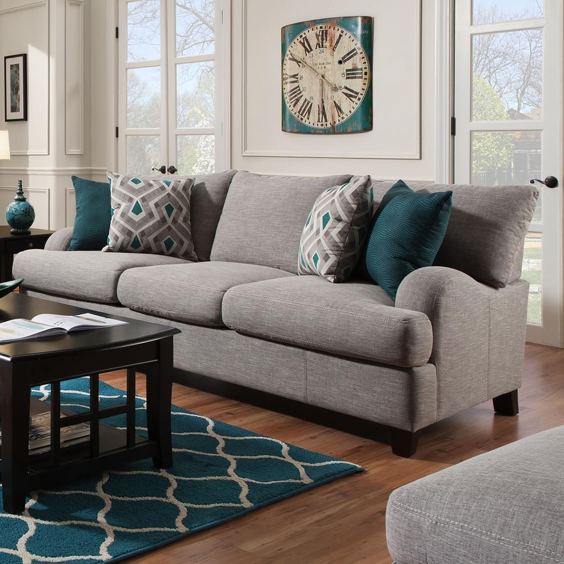 Franklin Paradigm Sofa With Bold Accent Pillows | Miskelly Furniture | Sofas