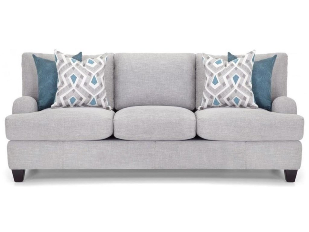Penny Lane Sofa With Bold Accent Pillows By Franklin At Ruby Gordon Home