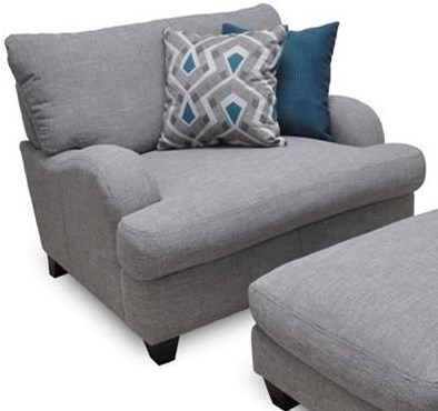 Franklin Paradigm Chair and a Half with Bold Accent Pillows
