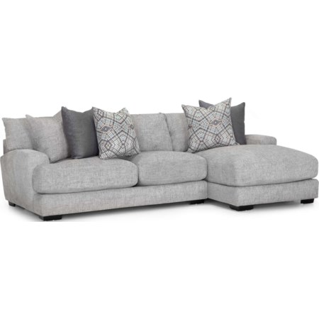 Two Piece Sectional -Grey