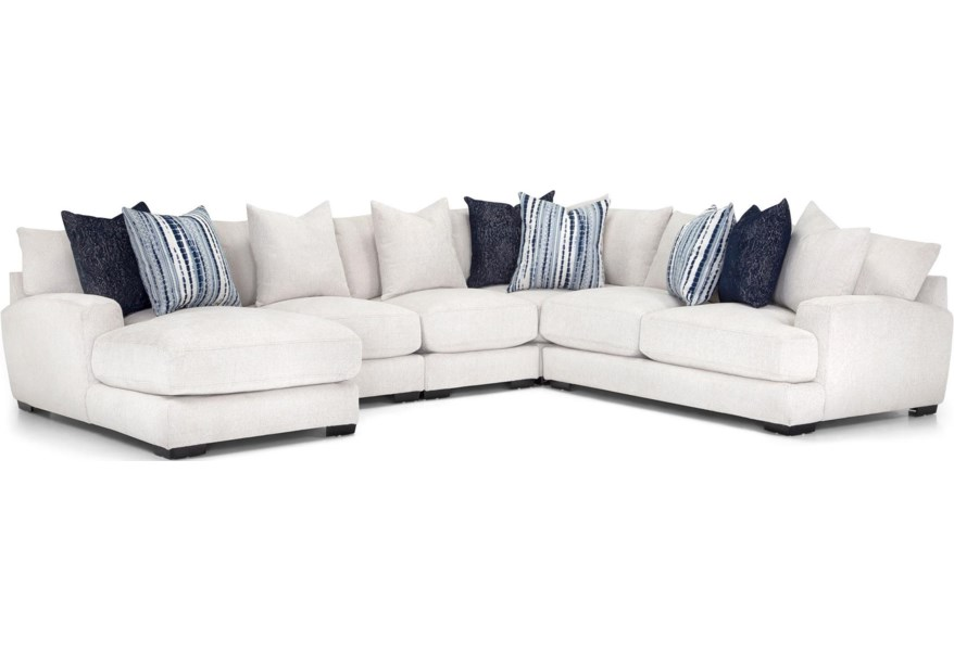 Franklin 903 121 13102 1 122 13102 2 123 13102 3 133 13102 6 5 Pc Sectional White With Left Arm Facing Chaise Furniture Fair North Carolina Sectional Sofas
