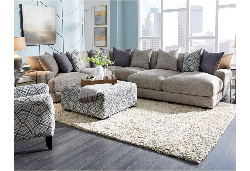 Franklin 903 L-Shaped Sectional Sofa with Chaise | Furniture ...