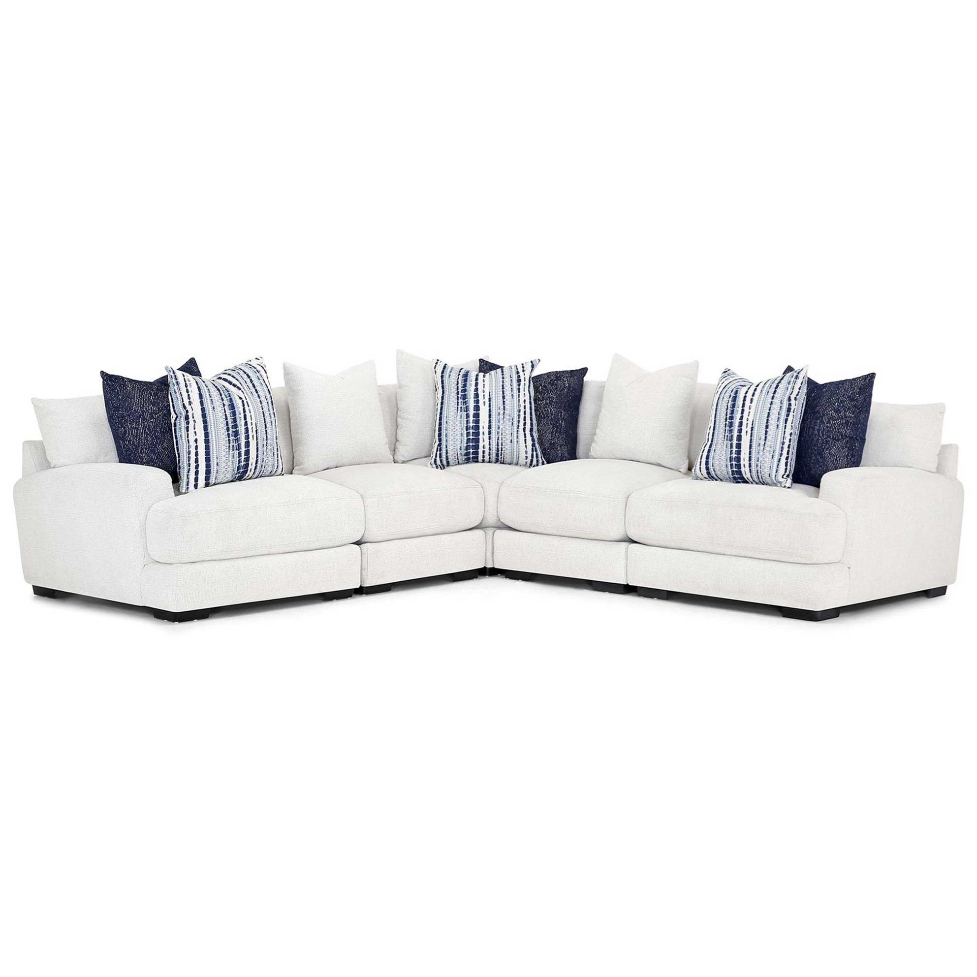 L-Shaped Sectional Sofa with Track Arms