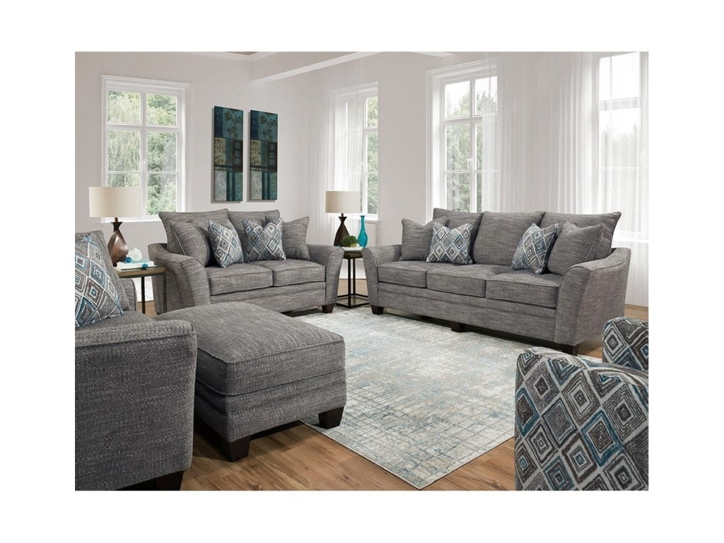 Franklin 910Stationary Living Room Group