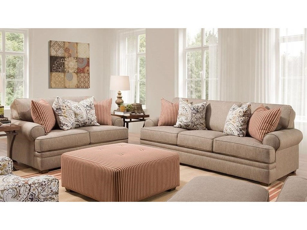 Franklin 915Stationary Living Room Group