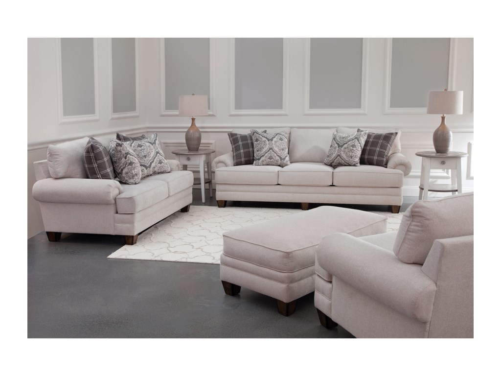 Franklin 957Stationary Living Room Group