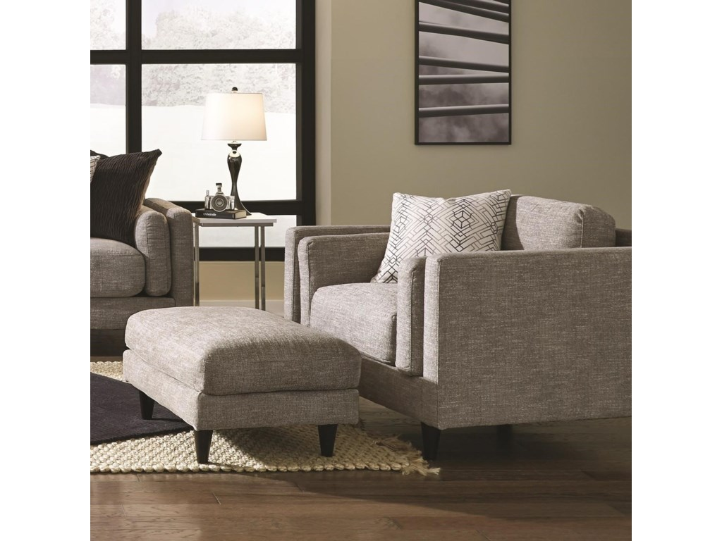 Franklin Argentine 838Chair and Ottoman