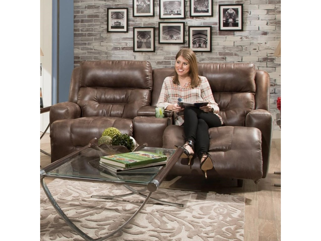 Franklin ArmstrongPower Reclining Console Loveseat