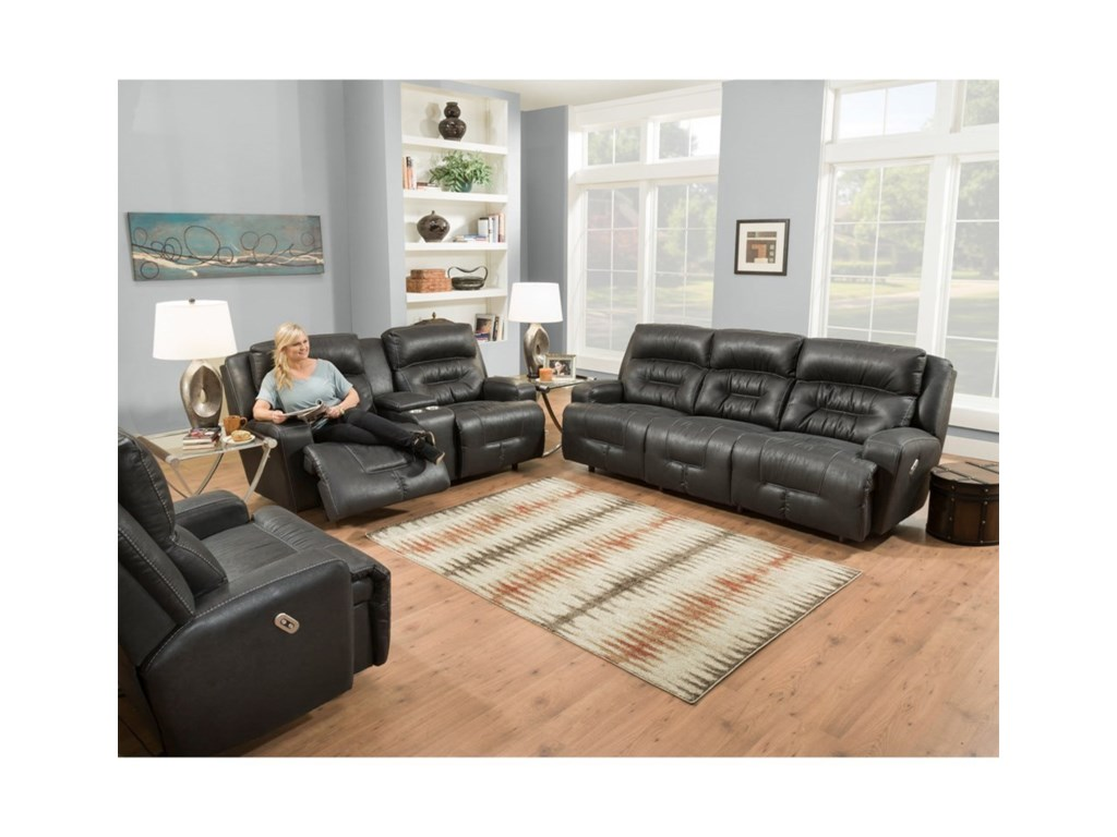 Franklin ArmstrongPower Reclining Sofa with Power Headrests