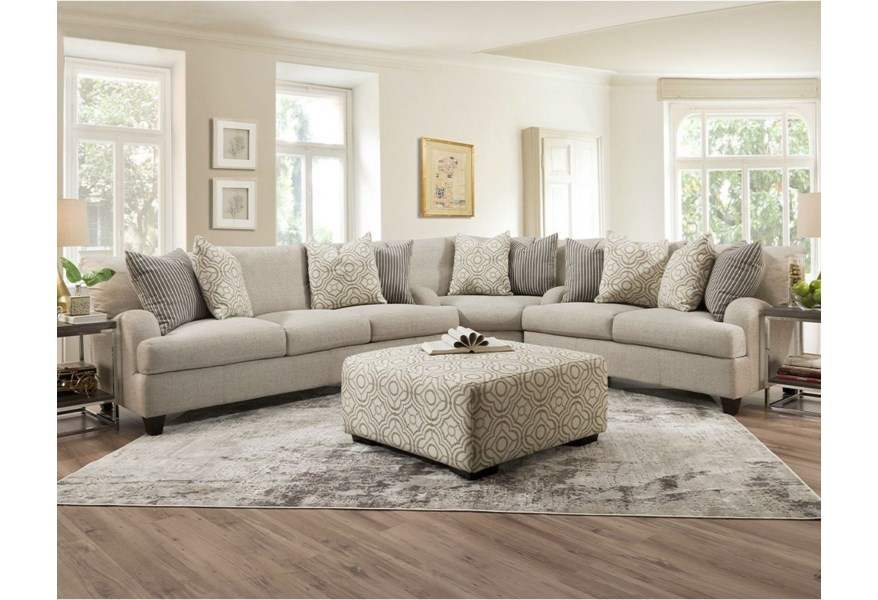 Franklin Cambria L Shaped Sectional Sofa With English Arms Virginia Furniture Market Sectional Sofas
