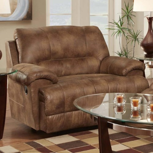 Franklin Caswell Chair and a Half Recliner with Casual Style - Franklin Caswell Chair And A Half Recliner With Casual Style