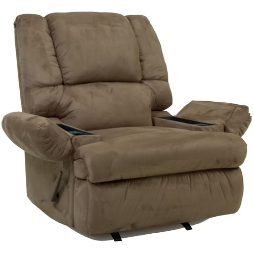 Franklin Rocker Recliners Chaise Recliner With Storage Arms