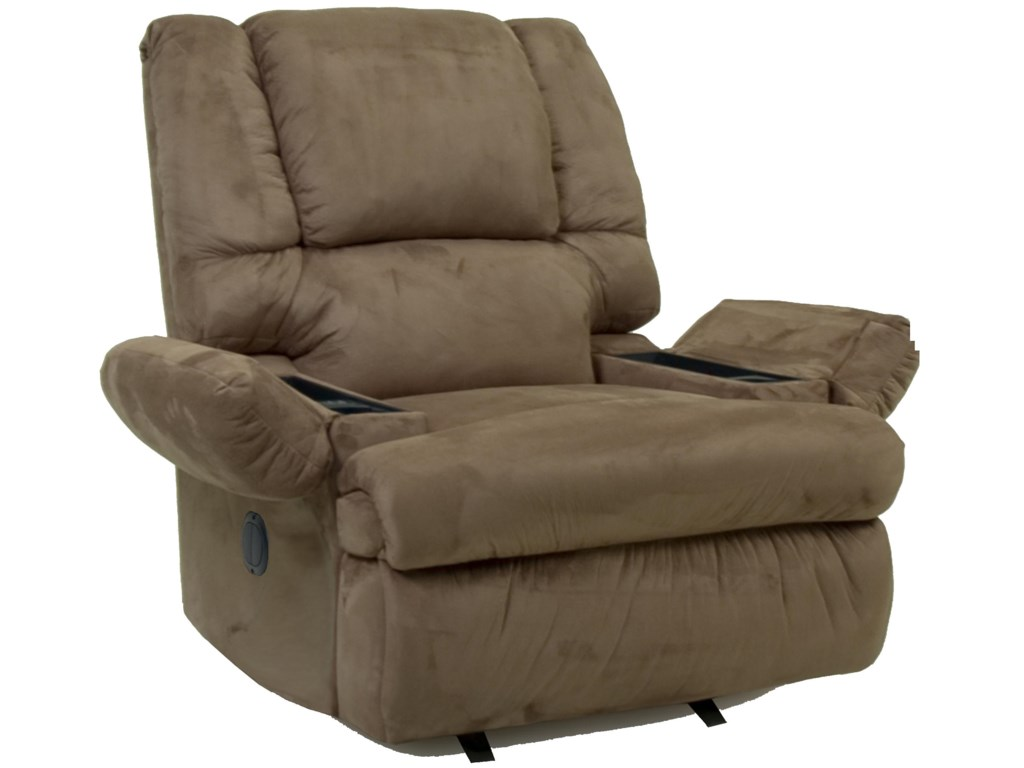 recliner lr brown recliners rocker product rec vercelli leather