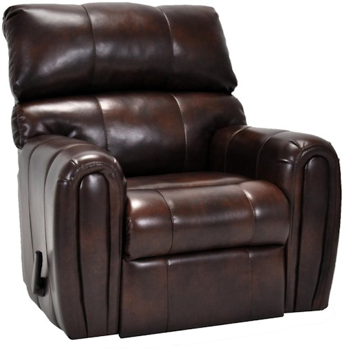 Franklin Rocker Recliners Casual Styled Rocker Recliner with Smooth Rounded Arms
