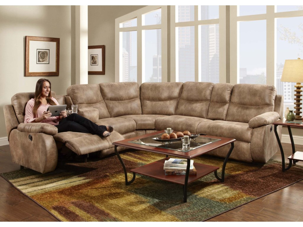 Franklin Eclipse Collection 499Reclining Sectional Sofa