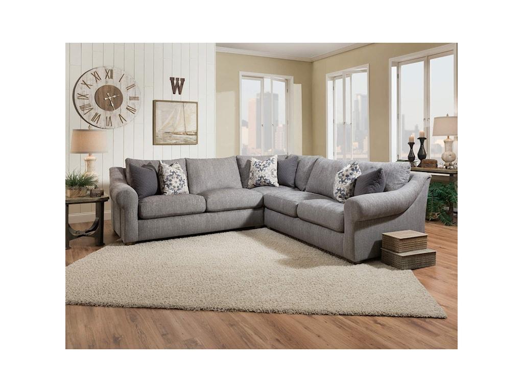 Franklin Bennington 4 Seat Sectional Sofa   Furniture ...