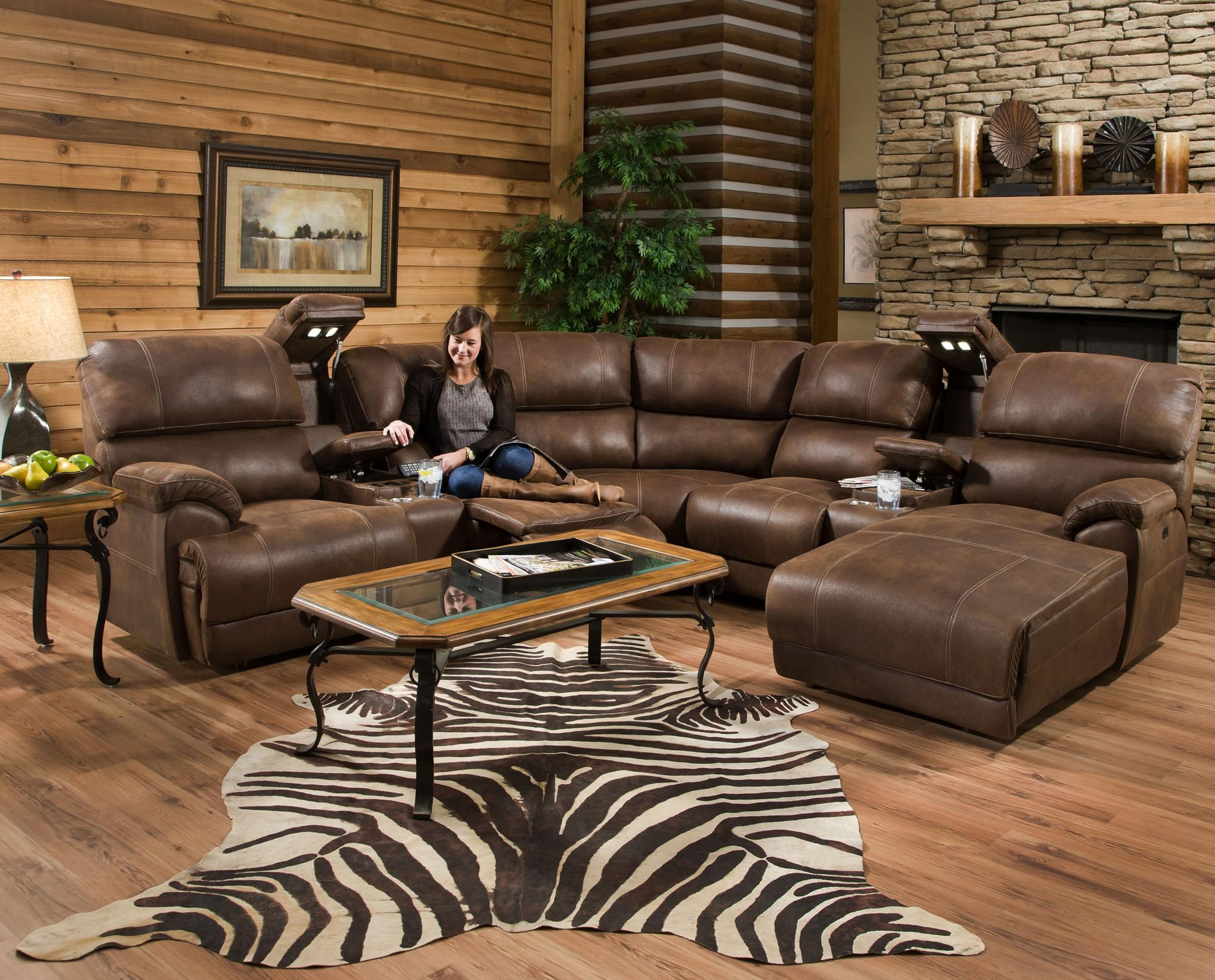 Captivating Franklin Empire Reclining Sectional Sofa With Left Side Chaise