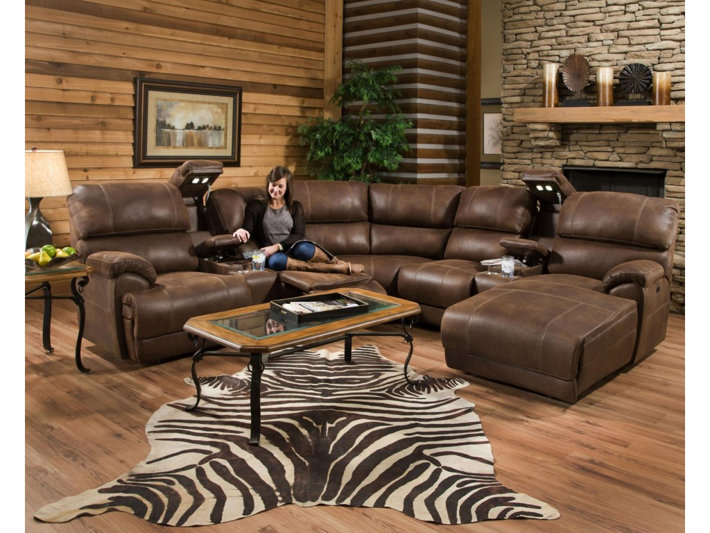Franklin Empire Reclining Sectional Sofa with Left Side ...