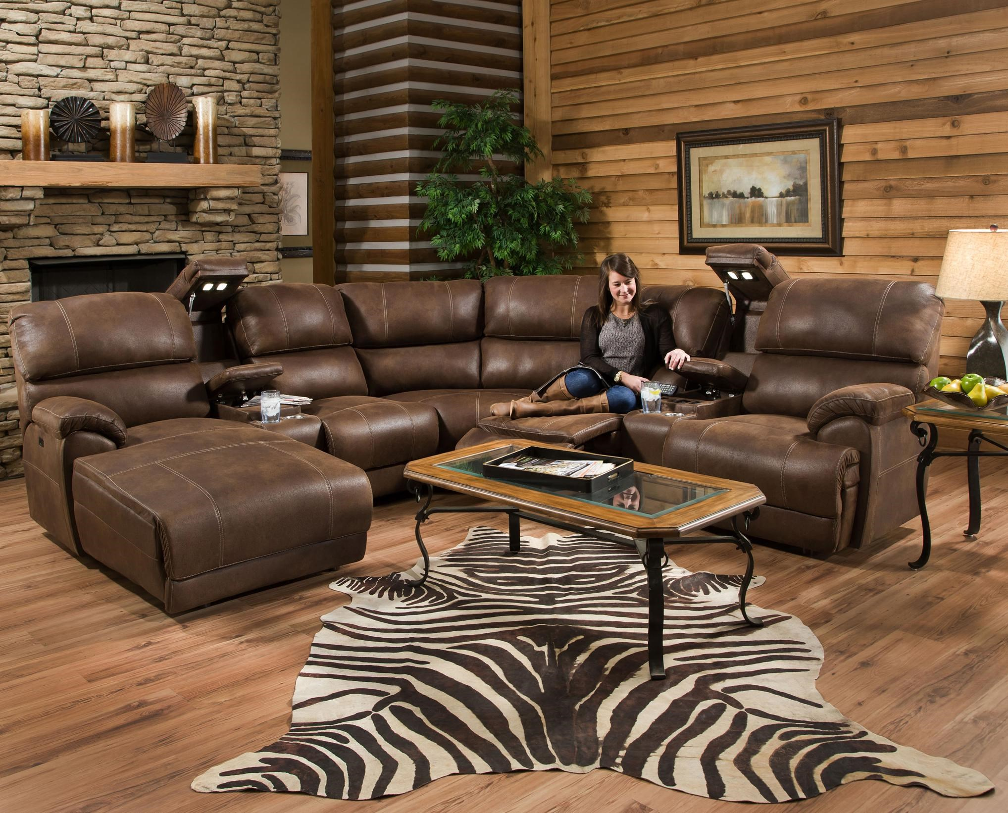 Superior Franklin Empire Reclining Sectional Sofa With Right Side Chaise