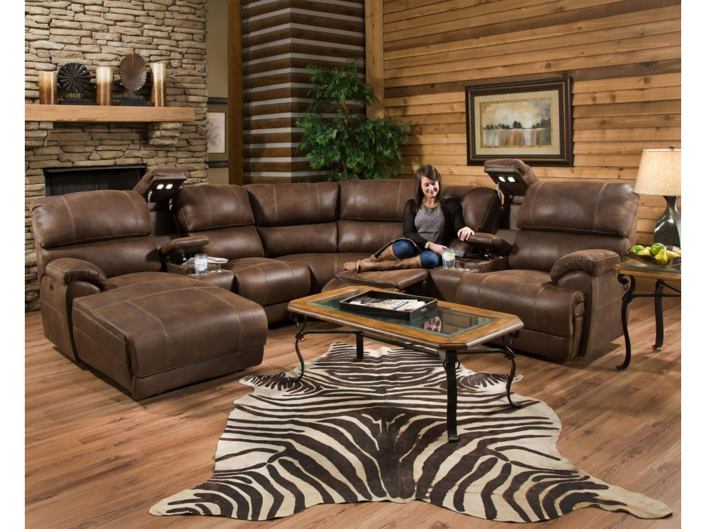 Franklin EmpireReclining Sectional Sofa with Right Chaise