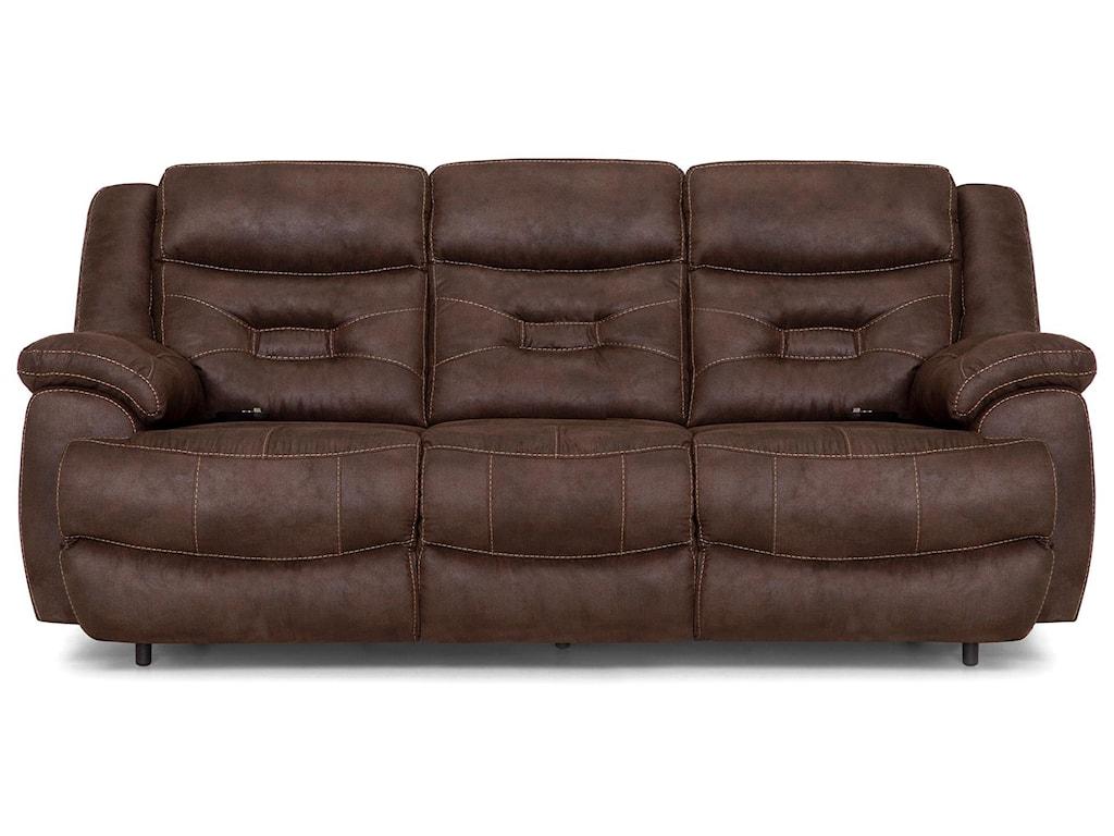 Franklin EndeavorBrown Pwr Recl Sofa w/Pwr Head & Lumbar