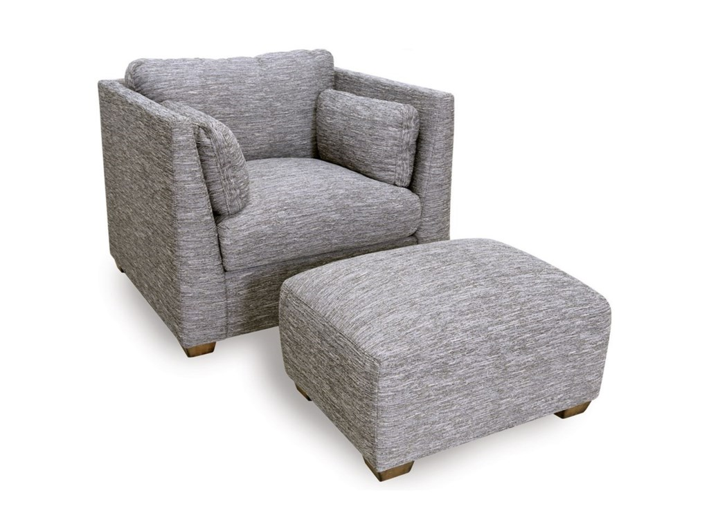 Franklin 821Chair and Ottoman Set