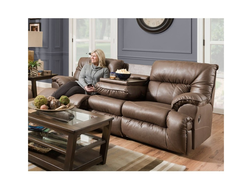 Franklin HensonPower Reclining Sofa with Drop Down Table