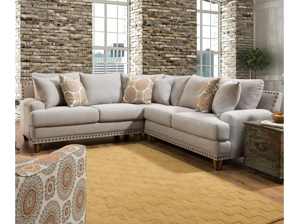 Franklin Astrid Sectional Sofa with Four Seats | Furniture ...