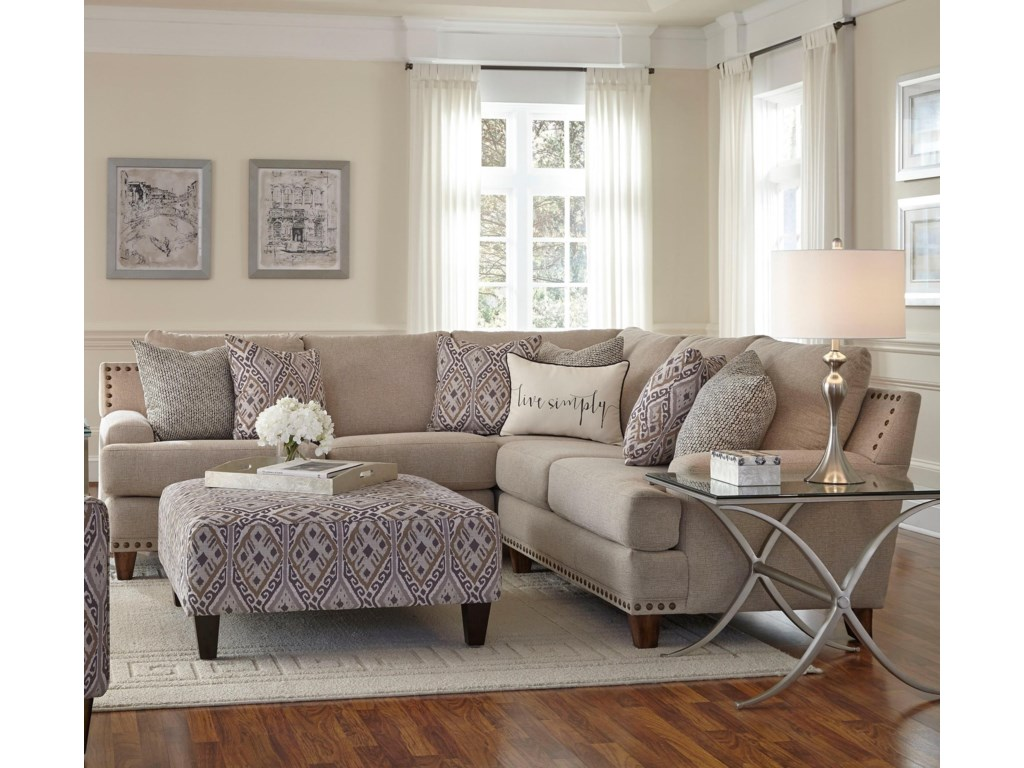 Franklin Anna Sectional Sofa with Four Seats | John V Schultz ...