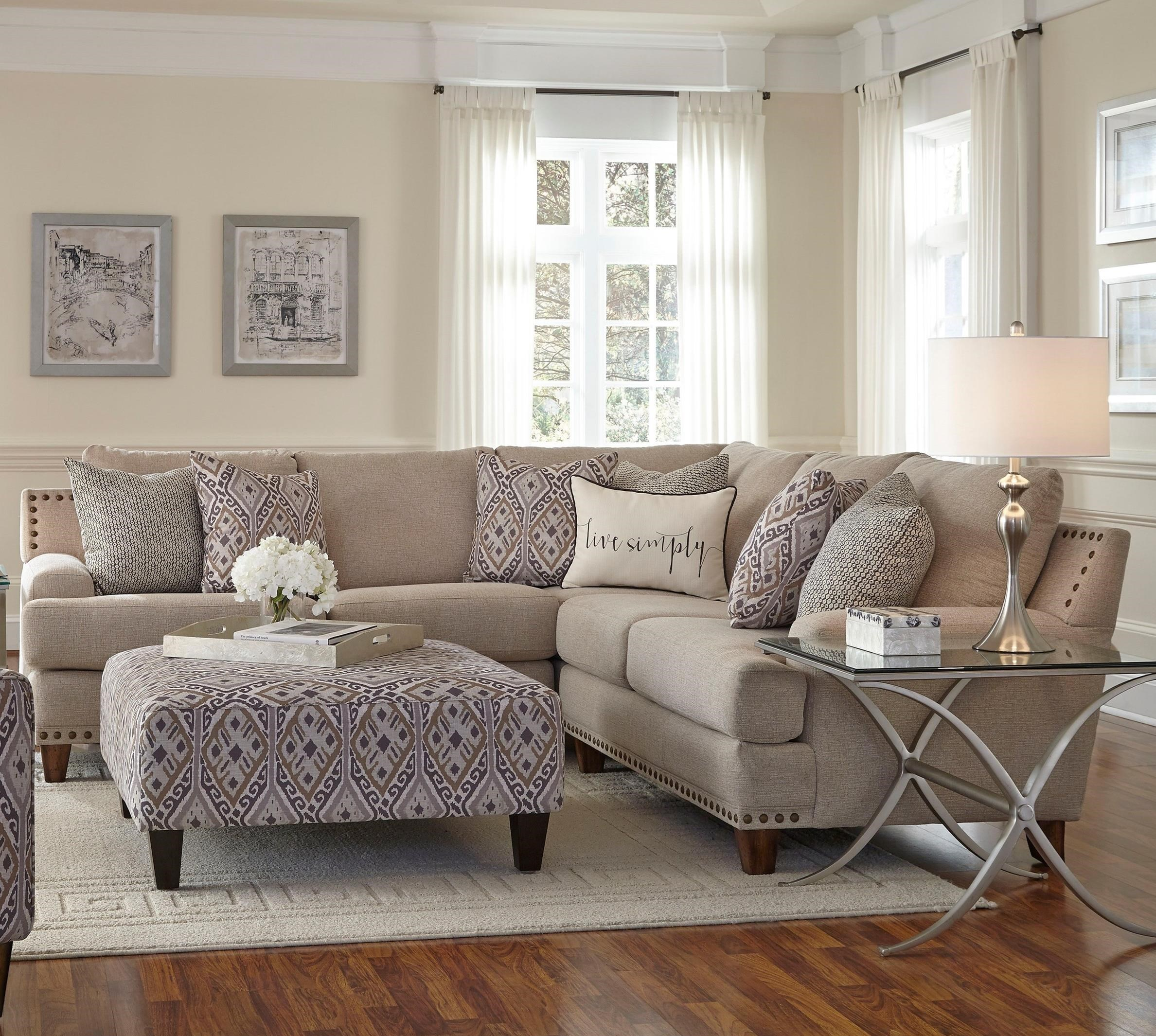 Franklin Anna Sectional Sofa With Four Seats