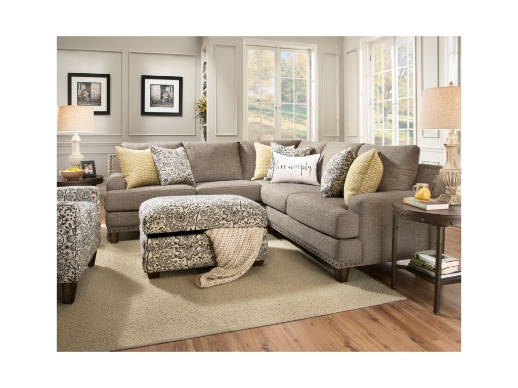Hillary Sectional Sofa With Four Seats By Franklin