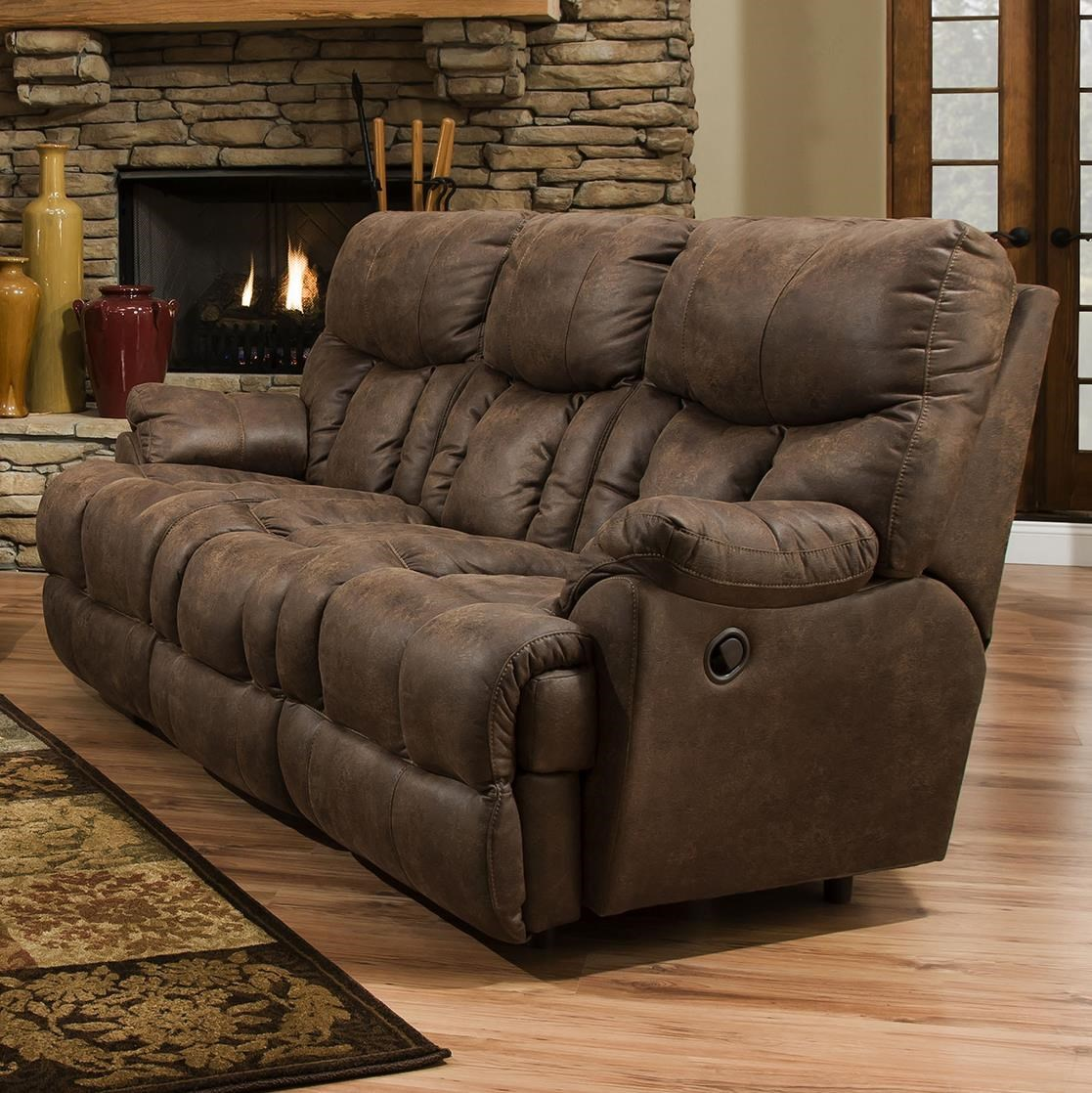 Genial Franklin Mammoth Reclining Sofa With Extra Tall And Wide Seats