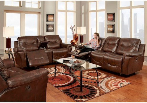 Franklin Milano 3 Piece Reclining Living Room Group