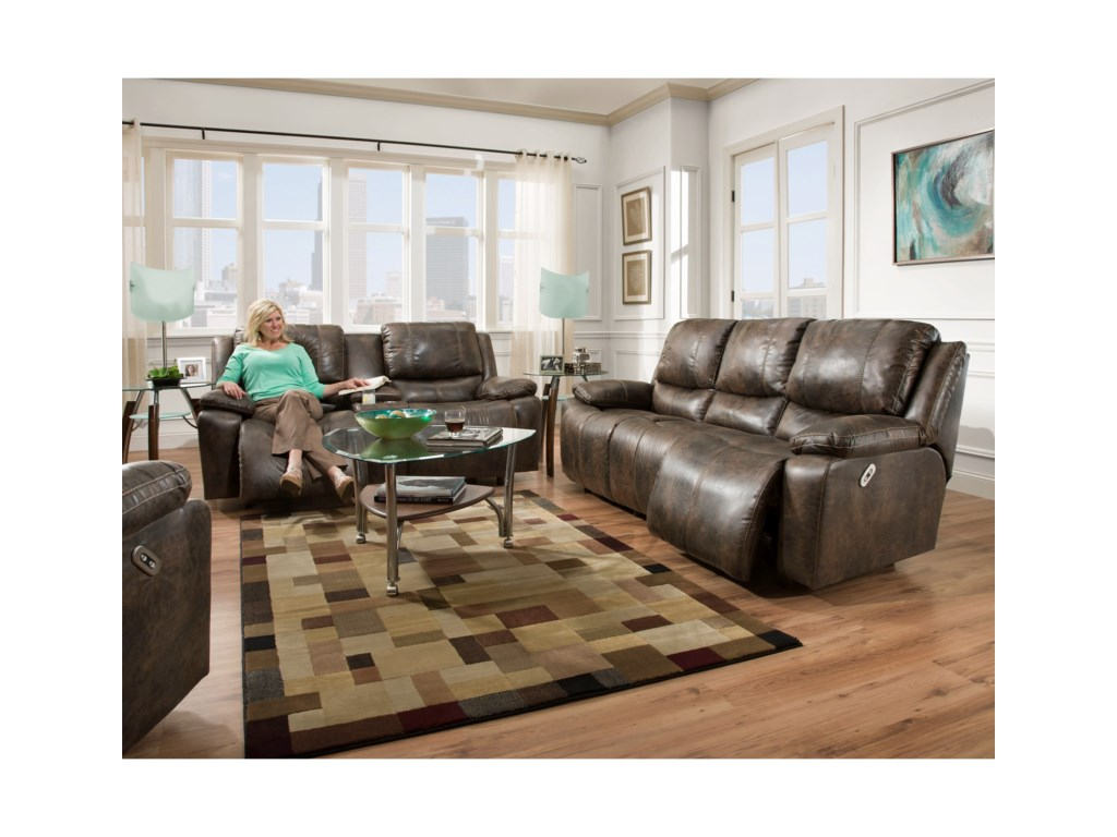Franklin MontanaPower Reclining Loveseat with Power Backrest