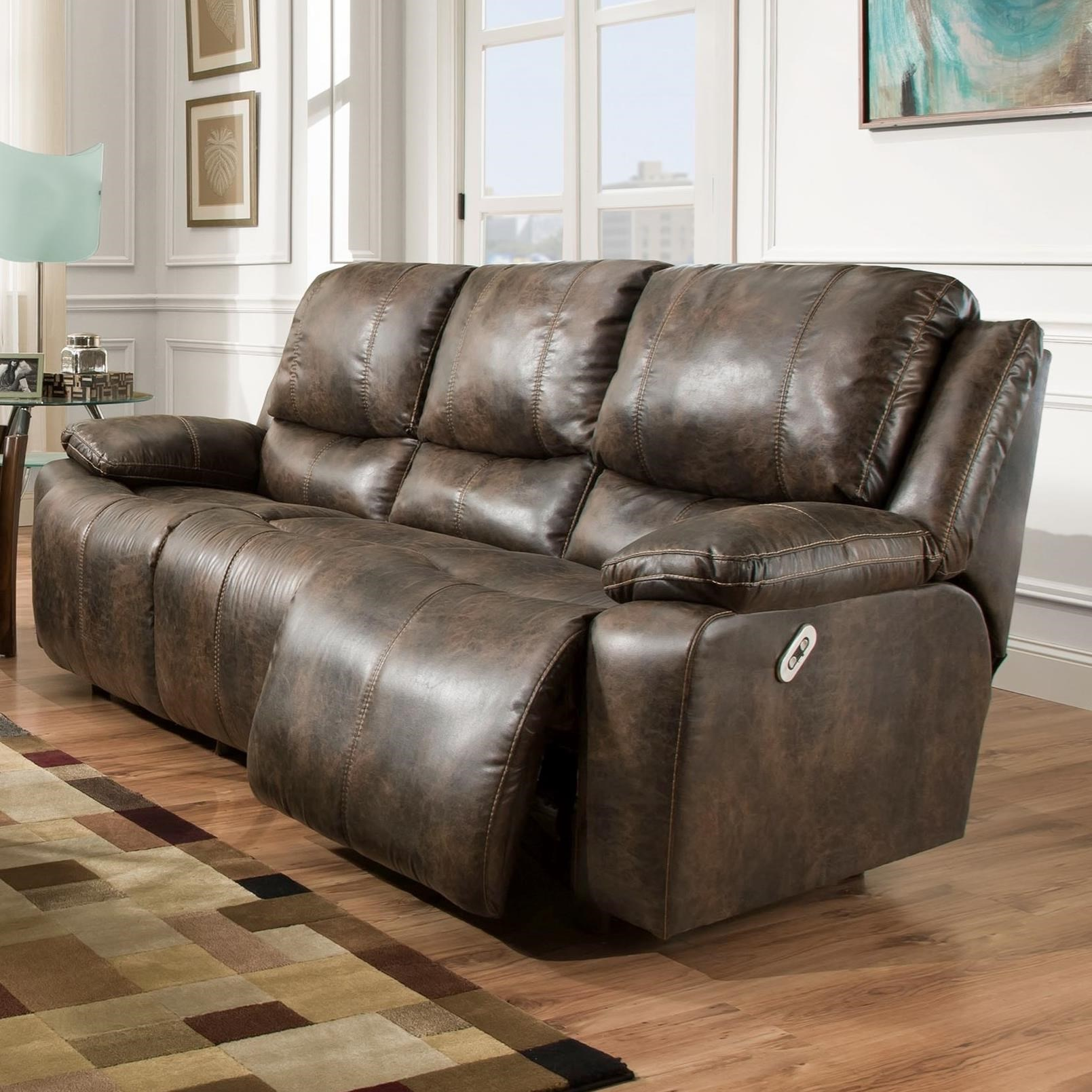 Franklin MontanaPower Reclining Sofa With Power Backrest ...