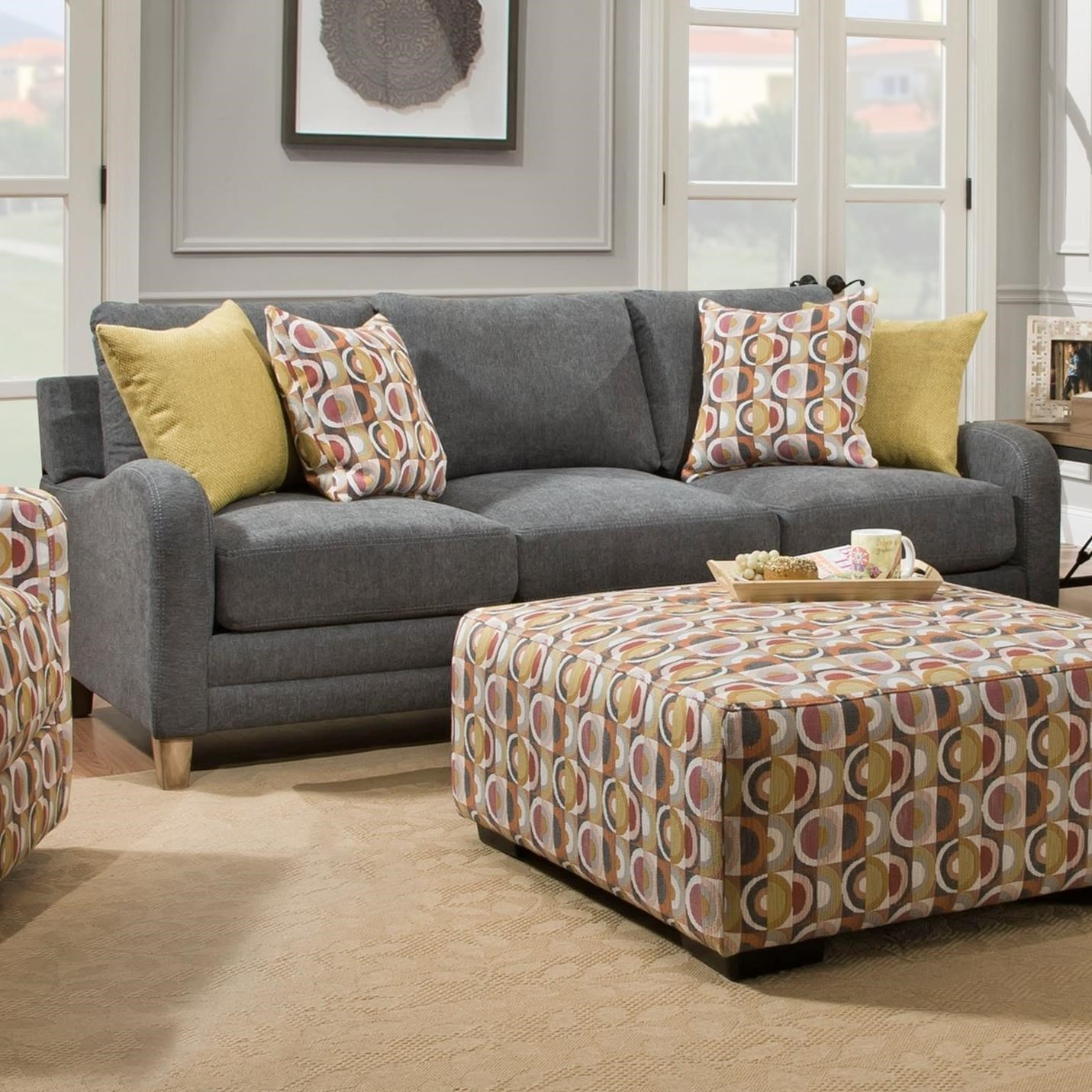 Franklin Palmer Contemporary Sofa With Sloping Track Arms