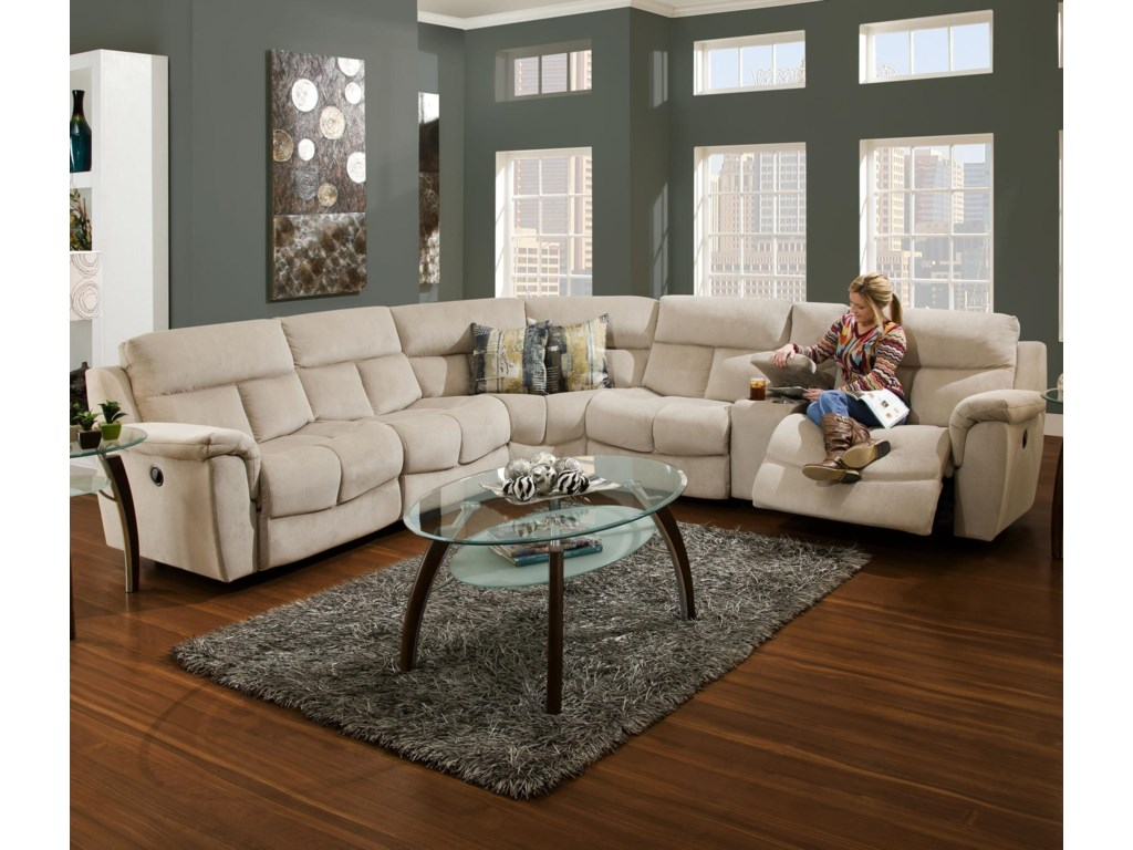 Franklin Stallionsectional Sofa W Console