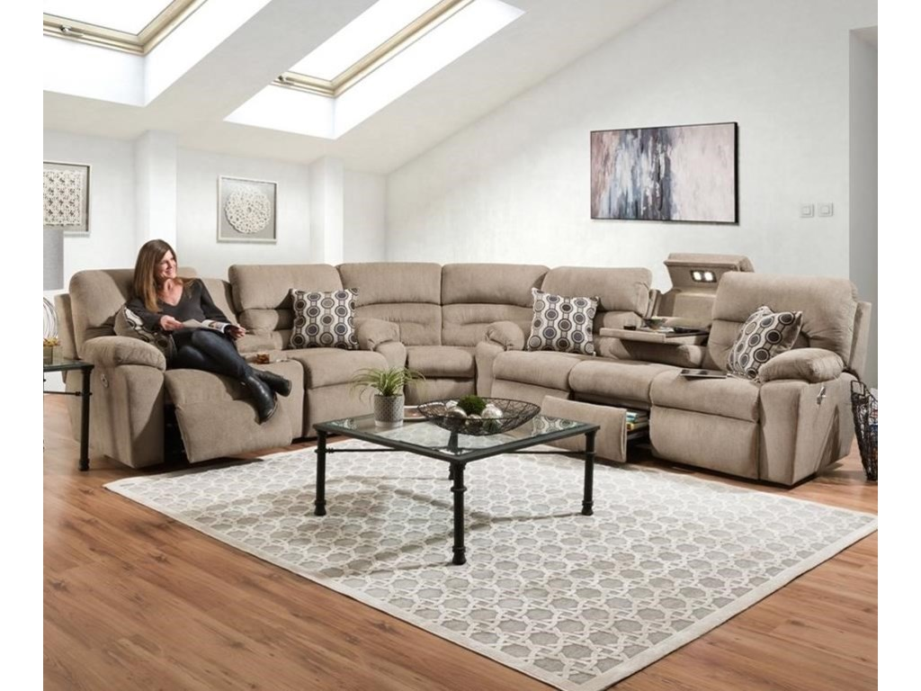 Franklin Tribute6 Seat Power Reclining Sectional