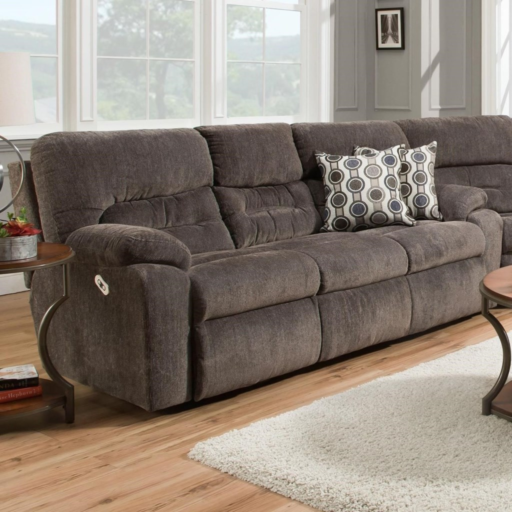 Franklin Tribute 79747 Power Headrest Reclining Sofa With Drop Down
