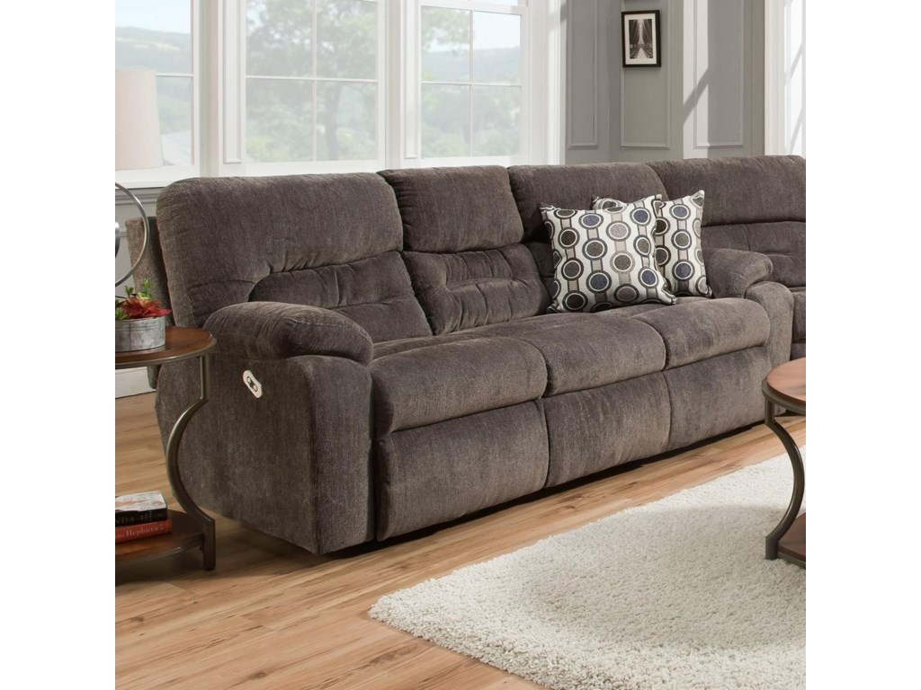Franklin Tribute 79747 Power Reclining Sofa With Drop Down Table