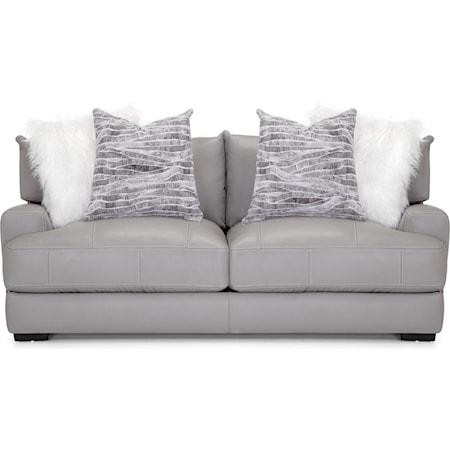 Leather Match Sofa