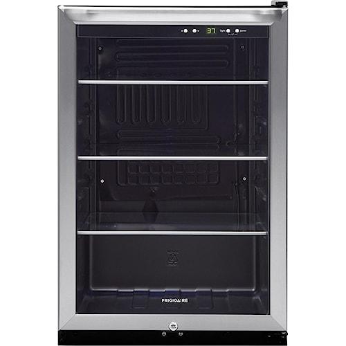 Frigidaire Beverage Cooler 4.6 Cu. Ft. 3-Shelf Beverage Center with 138-12 oz. Can Capacity