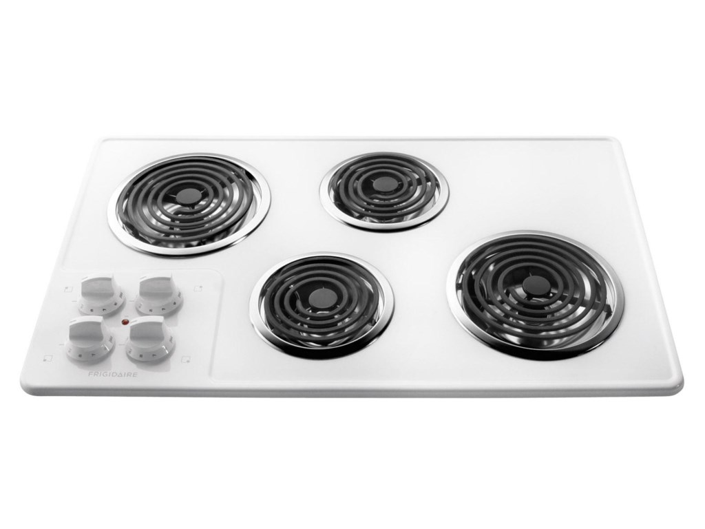 32 Built In Electric Cooktop With 4 Coil Elements By Frigidaire