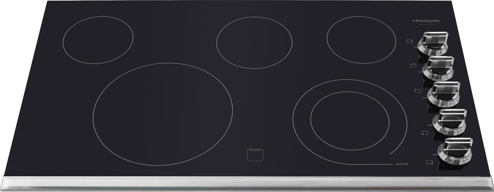 Frigidaire Gallery Black 30 30 Inch Electric Stovetop Cooktop FGEC3045KB