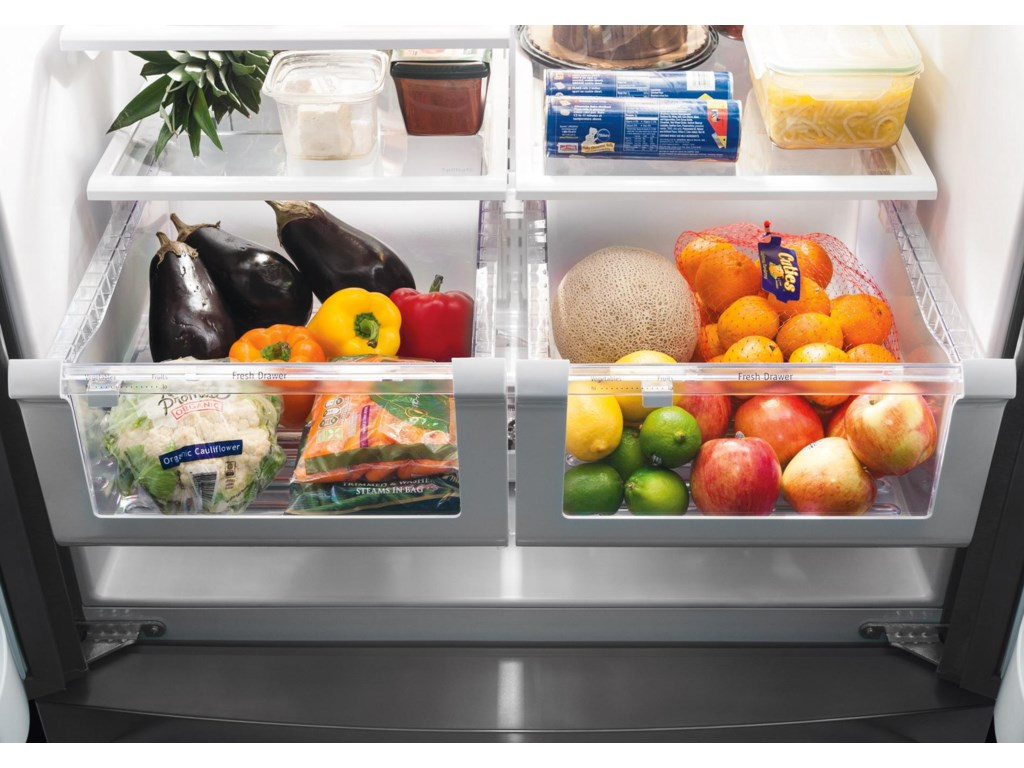 Clear Humidity Controlled Crisper Drawers