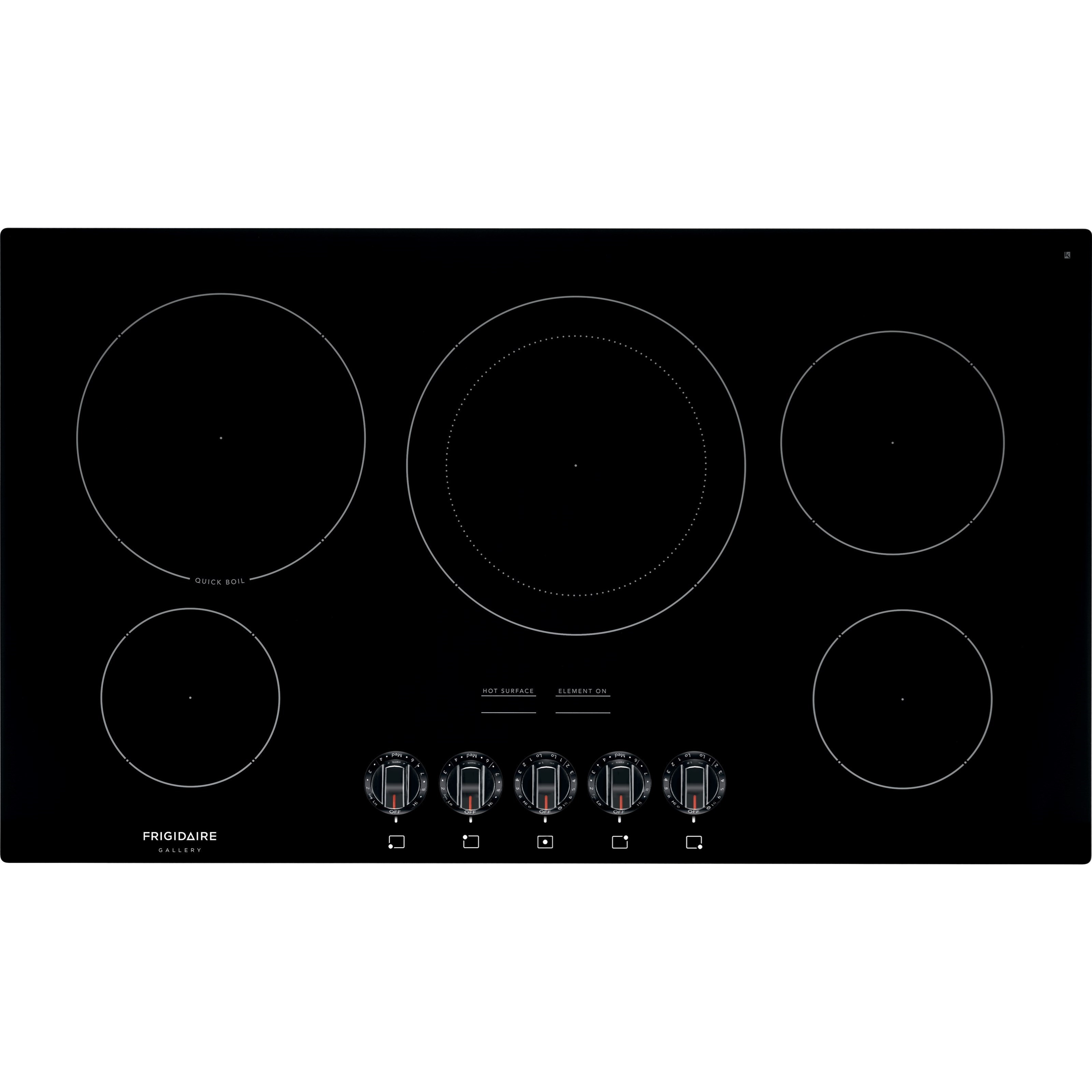 Frigidaire FFEC3625UB 36 Inch Electric Smoothtop Cooktop in Black ...